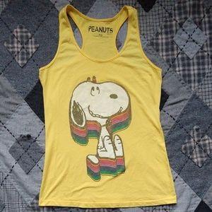 Vintage Faded Snoopy Rainbow Tank